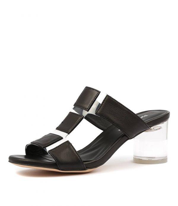 leather pannels open slipper