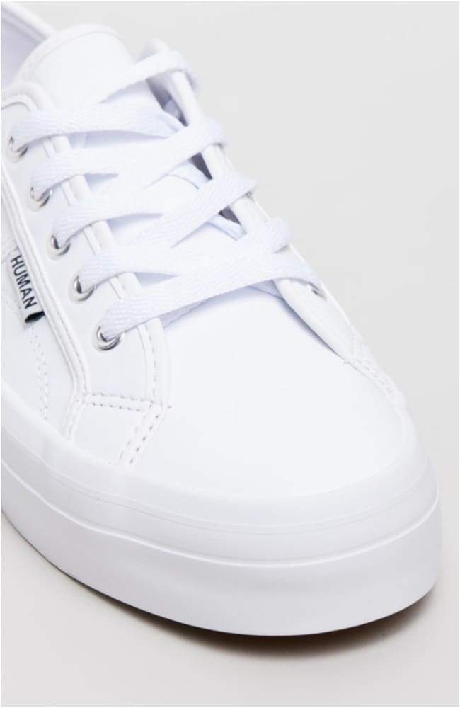 Human Shoes Cass Leather Snekaer White